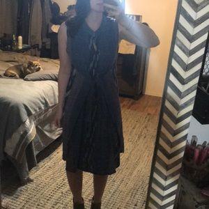 Vintage Aztec wrap midi dress